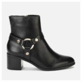 Dune Women's Pipkin Leather Heeled Ankle Boots - Black - UK 8 - Black