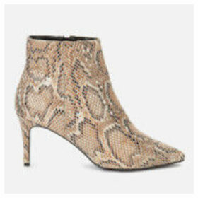 Dune Women's Obsessed Heeled Shoe Boots - Natural Reptile - UK 8