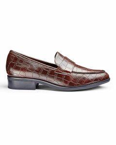 Flexi Sole Mock Croc Loafers EEE Fit