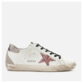 Golden Goose Deluxe Brand Women's Superstar Leather Trainers - White/Snake/Metal Lettering
