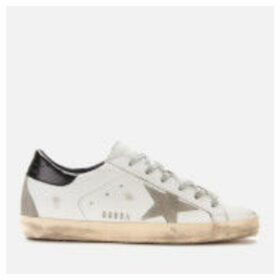 Golden Goose Deluxe Brand Women's Superstar Leather Trainers - White/Black/Cream/Metal Lettering