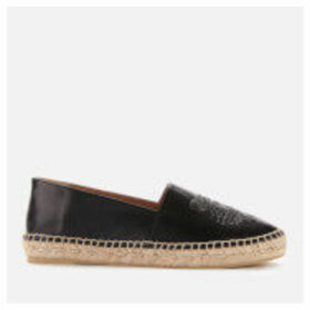 KENZO Women's Classic Tiger Leather Espadrilles - Black