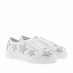 Miu Miu Sneakers - Star Sneaker Leather White/Silver - white - Sneakers for ladies