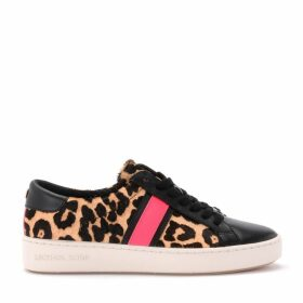 Michael Kors Sneaker In Animalier Pony And Black Leather