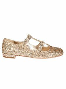 Miu Miu Glittered Ballerinas