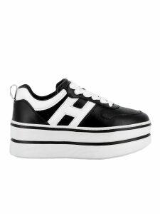 Hogan Black/white Leather Sneakers