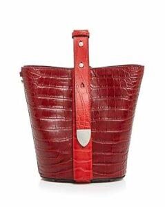 324 New York Anni Croc-Embossed Convertible Bucket Bag