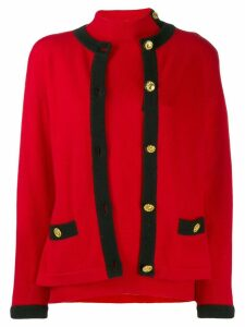 Céline Pre-Owned 1980/1990's cashmere knitted cardigan - Red