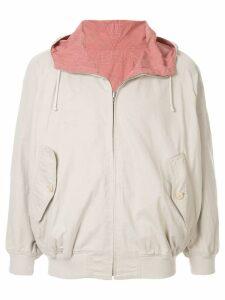Issey Miyake Pre-Owned 1980's Sports Line reversible hoodie - White