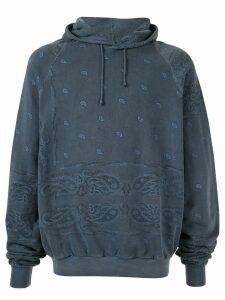 Raf Simons Pre-Owned 2004 AW paisley print hoodie - Blue