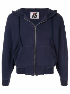 Issey Miyake Pre-Owned 1980's Sports Line quilted logo zipped hoodie -