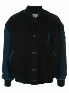 Issey Miyake Pre-Owned 1980's contrasting sleeves bomber - Blue
