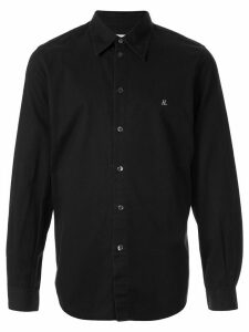 Helmut Lang Pre-Owned 1998 embroidered logo slim shirt - Black