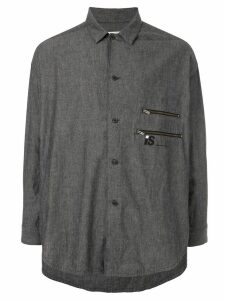 Issey Miyake Pre-Owned 1980's Sports Line gathered back shirt - Grey