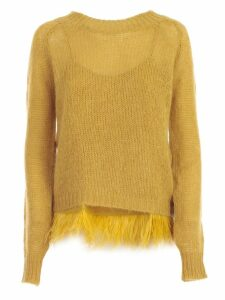 TwinSet Sweater Crew Neck Mohair W/plumage