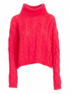 TwinSet Sweater Turtle Neck Mohair W/braids