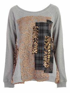 Antonio Marras Sweatshirt Crew Neck W/lace And Patch