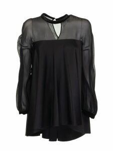 Max Mara Silk Envers Satin And Georgette Blouse