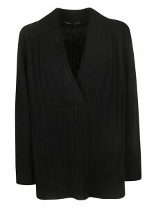 Proenza Schouler Oversized Knit Deep V-neck Sweater