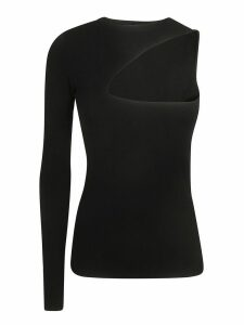 N.21 One-sleeve Semi-exposed Front Detail Top