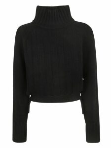 Proenza Schouler Cropped Knit T-neck Sweater