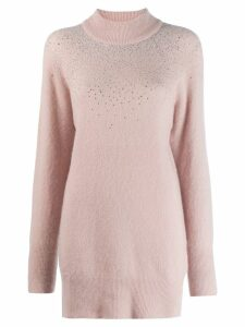 Blumarine Strass Turtleneck Sweater