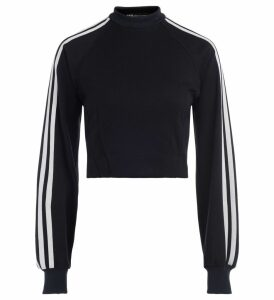 Adidas Black Crewneck Sweatshirt With White Side Stripes