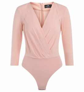 Elisabetta Franchi Body Shirt In Antique Pink Fabric