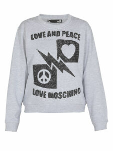 Love Moschino Love And Peace Sweatshirt
