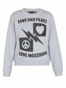 Love Moschino Love And Peace Sweatshirt
