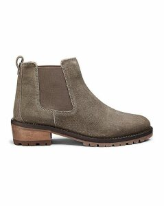 Suede Chelsea Ankle Boots EEE Fit