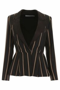 self-portrait Striped Blazer