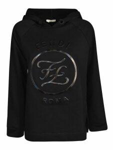 Fendi Embossed Logo Hoodie