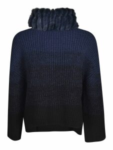 Fendi Feathered Roll Neck Pullover
