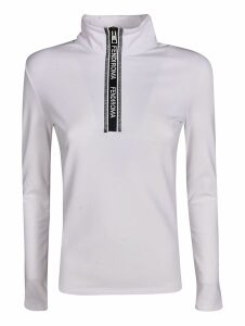 Fendi High Neck Placket Zipped Pullover