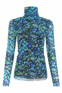 Ganni Floral-printed Top