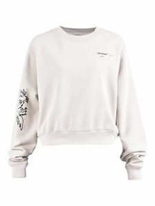 Off-White Cropped Sweatshirt