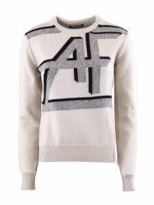 Alberta Ferretti Off-white Intarsia-knit Jumper