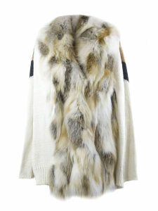 S.W.O.R.D 6.6.44 Gold-tone Fox Fur Knitted Cardigan