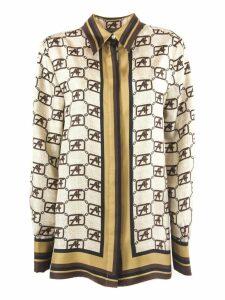 Alberta Ferretti Beige Silk Twill Shirt