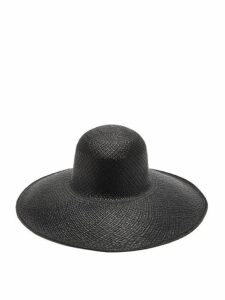 Greenpacha - La Jolia Toquilla-straw Hat - Womens - Black