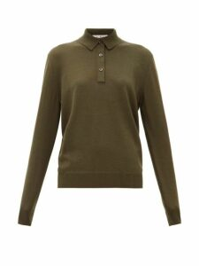 Giuliva Heritage Collection - The Cassiope Cashmere Blend Polo Shirt - Womens - Dark Green