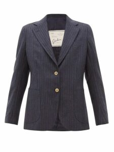 Giuliva Heritage Collection - The Andrea Shadow-striped Wool Blazer - Womens - Navy Multi