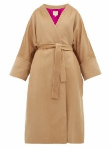 Roksanda - Larisa Belted Wool-blend Coat - Womens - Camel