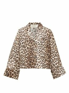 La Prestic Ouiston - Leopard Print Silk Blouse - Womens - Animal