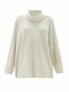Eskandar - Moss-stitch Cashmere Sweater - Womens - Ivory