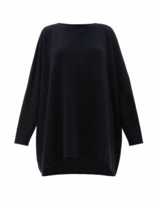 Eskandar - Oversized Ribbed-cashmere Sweater - Womens - Navy