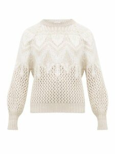 Brunello Cucinelli - Opera Open-knit Cashmere & Silk Sweater - Womens - Ivory