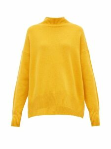 Allude - Funnel Neck Cashmere Sweater - Womens - Yellow