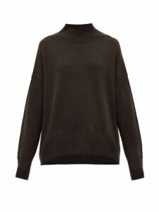 Allude - High-neck Cashmere Sweater - Womens - Brown